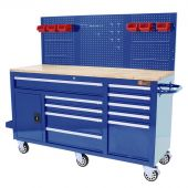 George Tools Roller cabinet 62 inch with 10 drawers blue