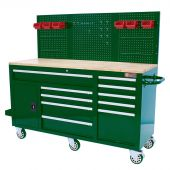 George Tools 62 inch filled mobile workbench British Racing Green - 156 pcs