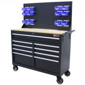 George Tools workbench on wheels 46 inch black filled - 164 pcs