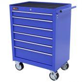 George Tools roller cabinet 6 drawer blue