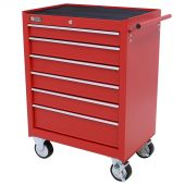 George Tools roller cabinet 6 drawers red