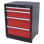 Kraftmeister cabinet 4 drawers Premium - Red