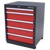 Kraftmeister 5-drawer cabinet Premium - Red
