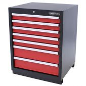 Kraftmeister cabinet 7 drawers Pemium - Red