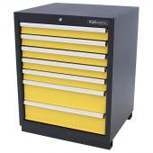 Kraftmeister cabinet 7 drawers Pemium - Yellow