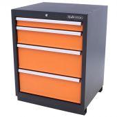Kraftmeister cabinet 4 drawers Premium - Orange