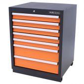 Kraftmeister cabinet 7 drawers Pemium - Orange