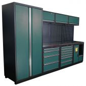 Kraftmeister modular garage system Halifax stainless steel - green