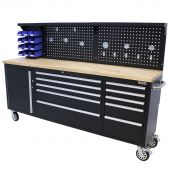 George Tools mobile workbench 84 inch black