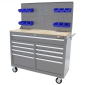 George Tools Mobile Workbench 46 Inch grey