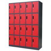Kraftmeister 20-door locker, black edition