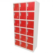 Kraftmeister 18-door locker, red