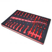 Kraftmeister Foam Inlay 5. Screwdriver set with slotted, phillips, insulated and precision screwdrivers, 27 pcs