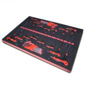 Kraftmeister Foam Inlay 6. T-Handle hex and torx key set, 33 pcs