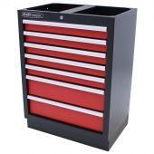 Kraftmeister tool cabinet with 7 drawers Standard red
