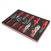 Kraftmeister Foam Inlay 10. Sheet metal cutters and pliers set 10pcs