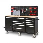 George Tools Roller cabinet 62 inch with 10 drawers black
