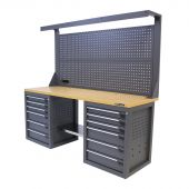 Kraftmeister workbench 200 MDF 12 with tool panel Platinum