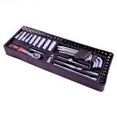 George Tools inlay 0 - Ratchet and socket set 61 pcs 1/4