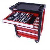 George Tools filled roller cabinet 7 drawers - Redline - 247pcs