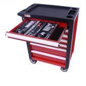 George Tools filled roller cabinet - Redline - 206pcs