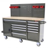 George Tools Roller cabinet 62 inch with 10 drawers grey