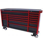 Kraftmeister roller cabinet Everest 72 Industrial black/red - 17 drawer