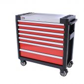 George Tools 7 drawer filled tool cabinet - Red - 154pcs